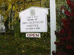 John Greenleaf Whittier House Sign