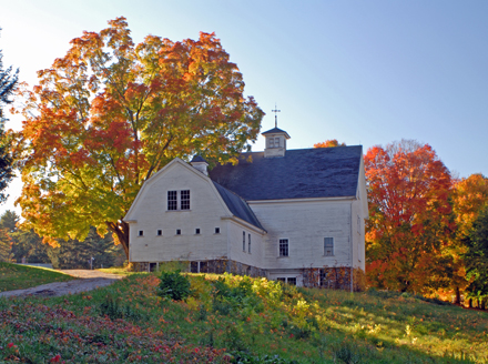 Old Barn in Fall, New England