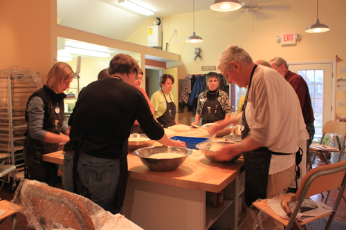 Class at Stone Turtle Baking & Cooking School
